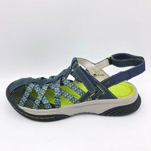 Jambu Eclipse All Terrain Sandals Blue Geometric 8